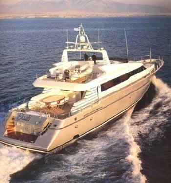 Ekali 102 feet luxury crewed motor yacht charter greece for Motor boat rental greece