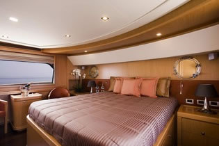 DANA Ferretti 85 feet motor yacht charter Greece
