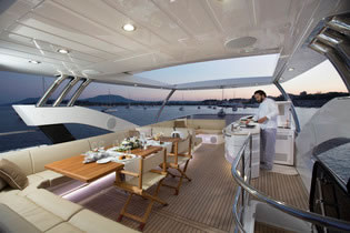 FINEZZA Sunseeker 75 motor yacht charter Greece