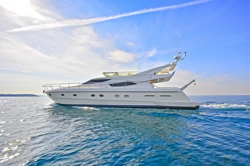 Lady a ferretti 65 motor yacht charter greece athens greek for Motor boat rental greece