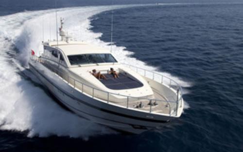 M y romachris ii leopard arno 88 7 feet luxury crewed for Motor boat rental greece