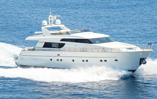 Motor yacht fos sanlorenzo 71 feet yacht charter greece for Motor boat rental greece