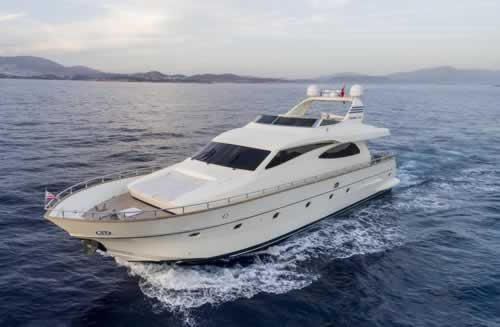 Motor yacht gorgeous canados 74 feet yacht charter greece for Motor boat rental greece