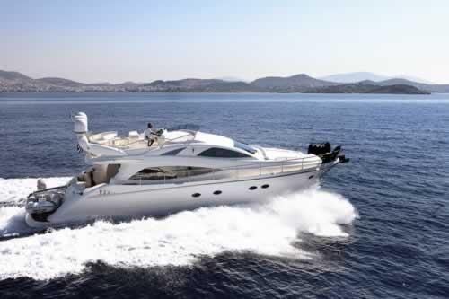 Motor yacht milos aicon 56 feet yacht charter greece greek for Motor boat rental greece