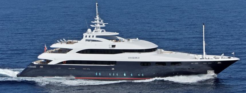 Oneiro motor yacht charter Greece
