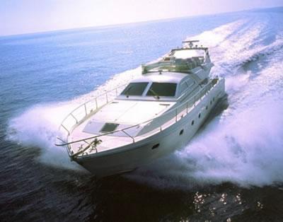 PATHOS Ferreti 63 Motor Yacht Charter Greece