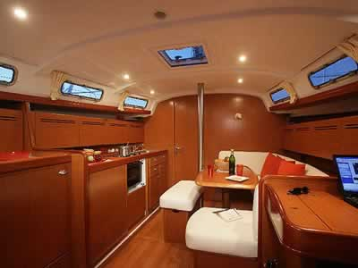 Beneteau Cyclades 43 sailing yacht charter Greece. ACCOMMODATIONS. Cabins: ...
