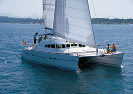 Catamaran yacht charter Greece skippered Lagoon 470