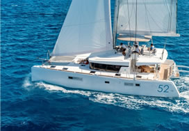 Catamaran charter Greece Lucky Clover Lagoon 52F with Captain and crew